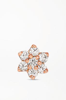 Maria Tash 4.5mm 18-karat Rose Gold Diamond Earring - one size