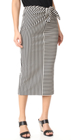 Tibi Ren Stripe Tie Front Skirt / Dress