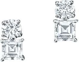 Anita Ko 18K White Gold & Diamond Drop Stud Earrings