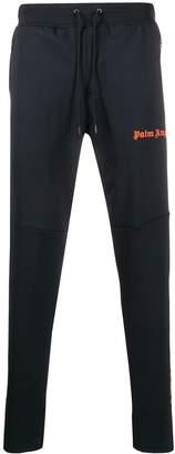 Palm Angels logo print slim track trousers