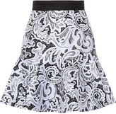 Mary Katrantzou Paige printed satin-twill mini skirt