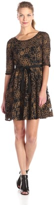 Plenty by Tracy Reese Dresses Women's Estella Lace Fit and Flare Dress