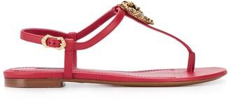 Dolce & Gabbana Devotion flat sandals