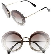 Miu Miu Women's 64Mm Round Sunglasses - Grey