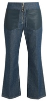 Edun High-rise flared cropped jeans