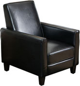 JCPenney Darvis Bonded Leather Reclining Club Chair