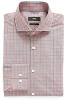 BOSS Men's Mark Us Sharp Fit Plaid Dress Shirt