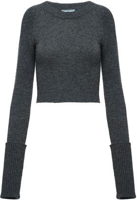 Prada slim ribbed sweater