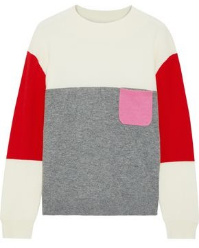 Chinti and Parker Color-block Wool And Cashmere-blend Sweater