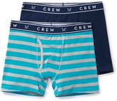 Crew Clothing 2 Pack Oxford Stripe Boxers