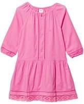 Gap Neon Light Pink Lace Hem Dress