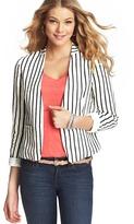 LOFT Sailor Stripe Collarless Linen Jacket
