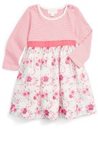 Pumpkin Patch Stripe & Floral Print Dress (Baby Girls)
