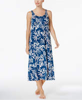 Alfani Tropical-Print Empire-Waist Nightgown, Created for Macy's