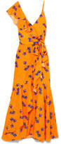 Borgo De Nor - Isadora Printed Cotton And Silk-blend Satin Maxi Dress - Orange