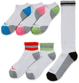 Asstd National Brand Womens 6-pk. Assorted Wardrobe Socks