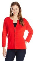 Anne Klein Women's Ribbed Sweater Cardi