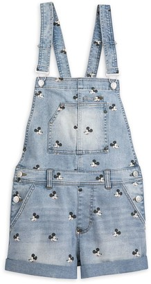Disney Mickey Mouse Overall Shorts for Juniors