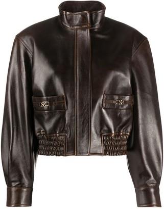 Sandro Paris High-Neck Bomber Jacket