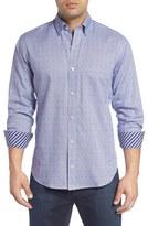 Tailorbyrd Men's Big & Tall 'Exelero' Regular Fit Dot Houndstooth Sport Shirt
