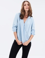 DECJUBA Lenora Crossover Chambray Top