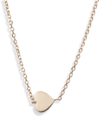 Anzie Love Letter Heart Pendant Necklace