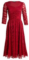 Dorothy Perkins Womens Feverfish Burgundy Lace Flared Dress, Red