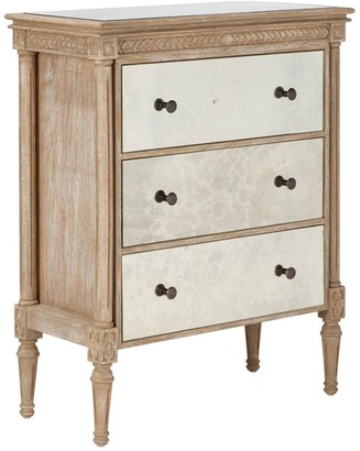 OKA Benais Large Chest of Drawers - Antiqued Mirror