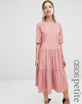 Asos Pleat Front Smock City Maxi Dress