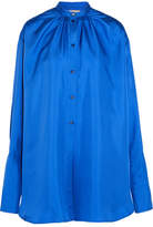 Roksanda Kiyoko Oversized Silk-satin Shirt - Cobalt blue