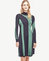 Ann Taylor Petite Abstract Stripe Sweater Dress