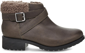 Women's Benson Boot Ii Shearling Suede Bootie Slate Size 6 Leather From Sole Society