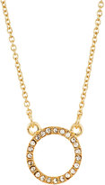 Lydell NYC Pave Crystal Circle Pendant Necklace, Gold