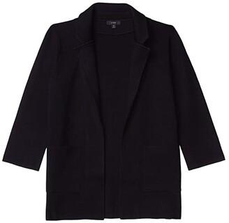 J.Crew Sophie Open-Front Sweater Blazer (Black) Women's Sweater