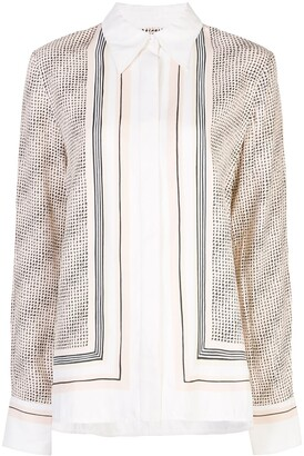 Proenza Schouler Long-Sleeved Printed Button-Down