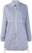 ADAM by Adam Lippes striped drawstring anorak - women - Silk/Cotton - M