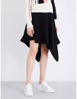 J.W.Anderson Asymmetric high-rise crepe skirt