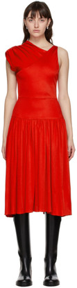 Vejas Red Grecian Dress
