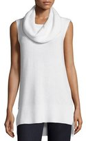 Elie Tahari Petra Cashmere-Blend Sleeveless Turtleneck, Antique