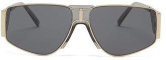 Givenchy Wide-arm Metal Sunglasses - Grey Gold