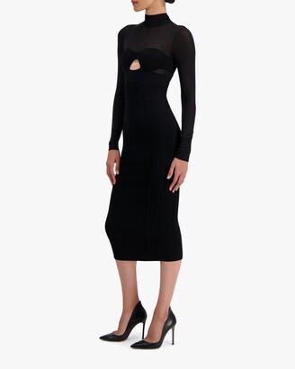 Herve Leger Long-Sleeve Corset Dress