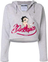 Moschino cropped Betty Boop hoodie