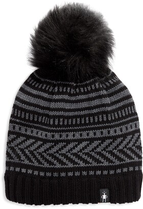 Smartwool Chair Lift Beanie with Faux Fur Pom