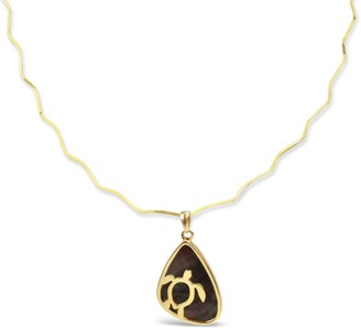 Bellus Domina Gold Plated Turtle Necklace