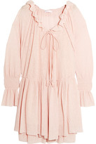 See by Chloe Gauze Mini Dress - Pastel pink