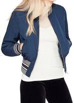 Miss Selfridge Striped Rib Varsity Jacket