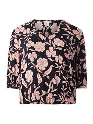 Junarose Women's Jrtindrawresta 3/4 Sleeve Blouse-K,(Size: 46.0)