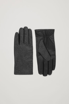 Cos Wool-Leather Gloves