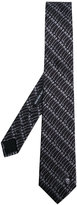 Alexander McQueen safety pin printed tie