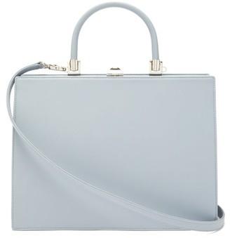 Rodo Le Marais Frame-top Leather Handbag - Womens - Light Blue